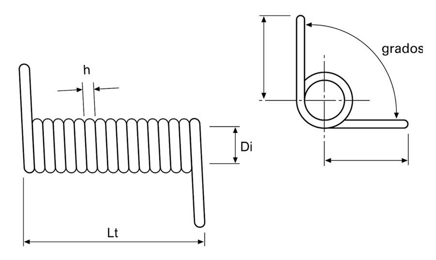 Muelles torsión a medida